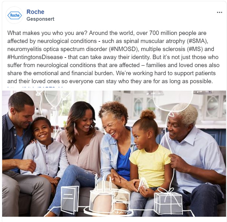 Roche's Healthcare Marketing auf Facebook