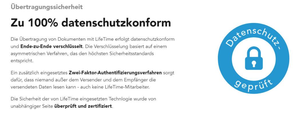 Datenshutz von Lifetime App