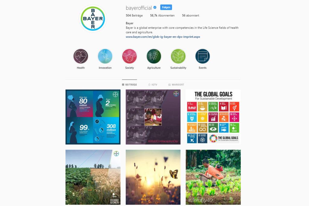 Bayer Instagram